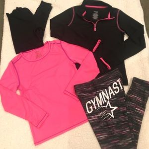 Girls 10/12 athletic outfit bundle